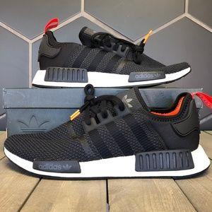 New W/ Box! Adidas NMD R1 Black Olive Running Shoe